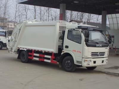 东风多利卡6方CLW5080ZYSD5型压缩垃圾车-程力威牌CLW5080ZYSD5型压缩式垃圾车-免征: 有|燃油: 无
