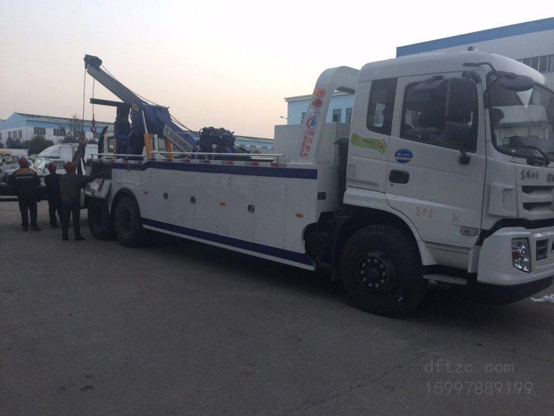 东风后八轮15吨CLW5251TQZE5型拖吊清障车-程力威牌CLW5251TQZE5型清障车-免征: 无|燃油: 无