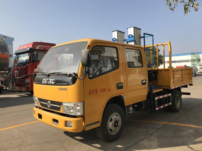 东风双排凯普特  蓝牌6-10米CLW5047JGK5型铝合金升降平台车-程力威牌CLW5047JGK5型高空作业车-免征: 无|燃油: 无