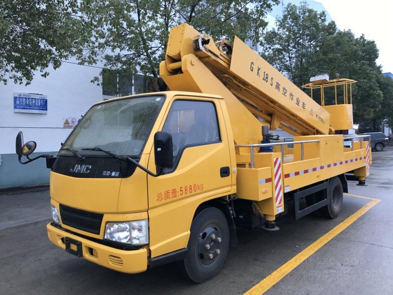 江铃顺达单排12-18米直臂伸缩式DLQ5060JGKZ5型高空作业车-大力牌DLQ5060JGKZ5型高空作业车-免征: 无|燃油: 有