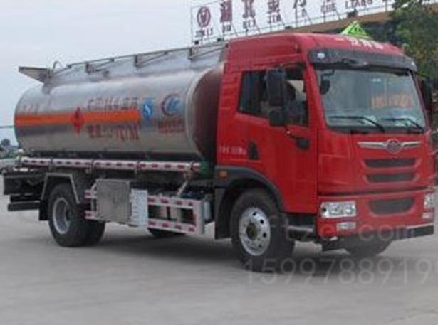 解放16方CLW5160GYYLC5型铝合金运油车-程力威牌CLW5160GYYLC5型铝合金运油车-免征: 无|燃油: 无