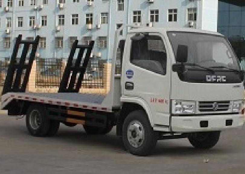 东风多利卡蓝牌CLW5040TPBE5型平板运输车-程力威牌CLW5040TPBE5型平板运输车-免征: 无|燃油: 无