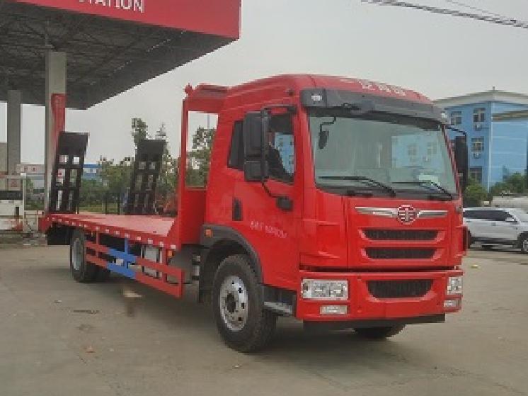 解放5.2米单桥CLW5162TPBC5型平板运输车-程力威牌CLW5162TPBC5型平板运输车-免征: 无|燃油: 无