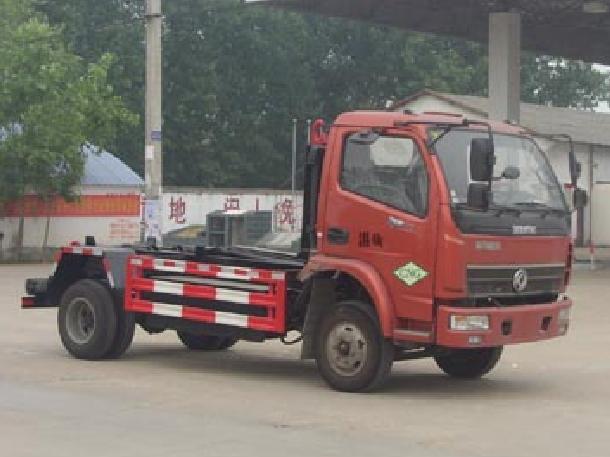 东风御虎5方CLW5040ZXXE4型车厢可卸式垃圾车-程力威牌CLW5040ZXXE4型车厢可卸式垃圾车-免征: 有|燃油: 无