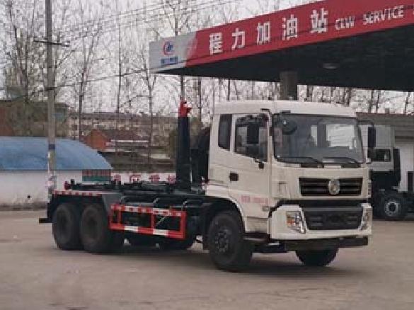 东风后八轮18方CLW5250ZXXD5型车厢可卸式垃圾车-程力威牌CLW5250ZXXD5型车厢可卸式垃圾车-免征: 无|燃油: 无