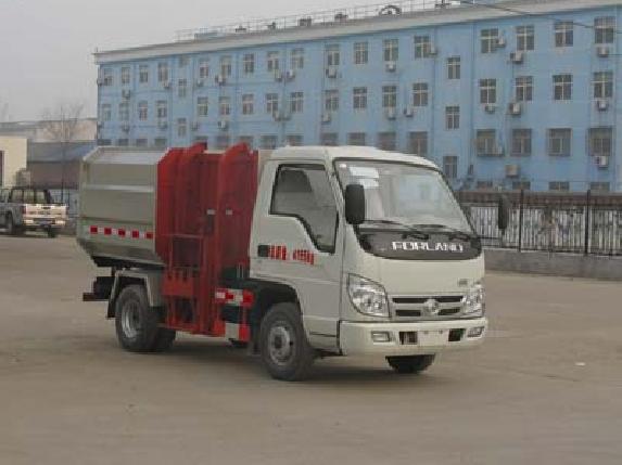 时代小卡之星CLW5040ZZZB5型自装卸式挂桶垃圾车-程力威牌CLW5040ZZZB5型自装卸式垃圾车-免征: 无|燃油: 有