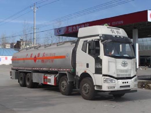 解放前四后八25方CLW5310GRYLC5型铝合金易燃液体罐式运输车-程力威牌CLW5310GRYLC5型铝合金易燃液体罐式运输车-免征: 无|燃油: 无