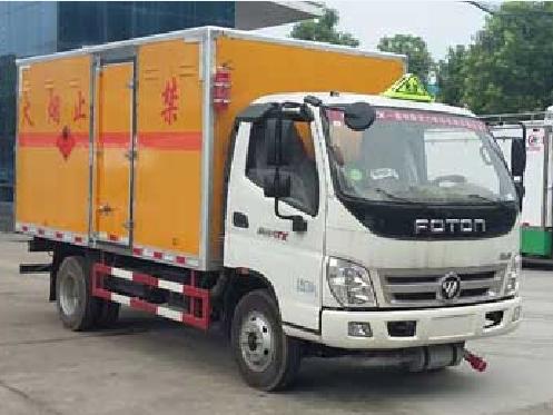 福田欧马可CLW5081XRYB5型易燃液体厢式运输车-程力威牌CLW5081XRYB5型易燃液体厢式运输车-免征: 无|燃油: 有