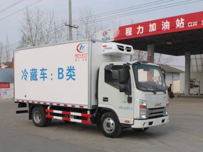江淮帅铃窄体5吨CLW5040XLCH5型冷藏车-程力威牌CLW5040XLCH5型冷藏车-免征: 无|燃油: 有