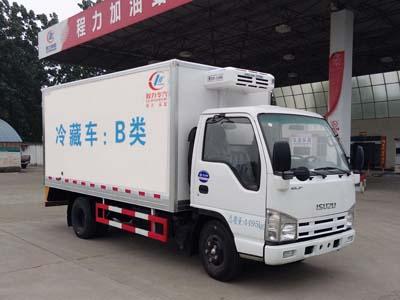 庆铃五十铃排半5吨蓝牌CLW5040XLCQ5型冷藏车-程力威牌CLW5040XLCQ5型冷藏车-免征: 无|燃油: 无