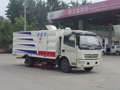 东风多利卡5方CLW5081TSLD5型洗扫车-程力威牌CLW5081TSLD5型扫路车-免征: 有|燃油: 无