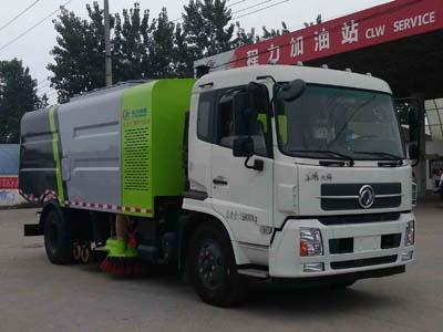 东风天锦9方CLW5160TSLD5型洗扫车-程力威牌CLW5160TSLD5型扫路车-免征: 有|燃油: 无