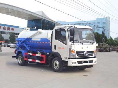 东风4方CLW5080GXWE5型蓝牌吸污车-程力威牌CLW5080GXWE5型吸污车-免征: 有|燃油: 无