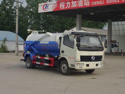 东风福瑞卡3.5方CLW5070GXWE5NG型蓝牌吸污车-程力威牌CLW5070GXWE5NG型吸污车-免征: 有|燃油: 无