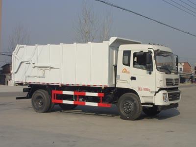 东风153  CLW5160ZDJT5型  对接式压缩垃圾车-程力威牌CLW5160ZDJT5型压缩式对接垃圾车-免征: 有|燃油: 无