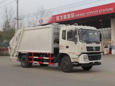 东风153  15方CLW5160ZYST5型压缩垃圾车-程力威牌CLW5160ZYST5型压缩式垃圾车-免征: 有|燃油: 无