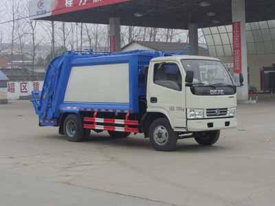 东风福瑞卡5方CLW5070ZYSD5型压缩垃圾车-程力威牌CLW5070ZYSD5型压缩式垃圾车-免征: 无|燃油: 无