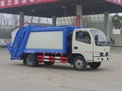 东风多利卡CLW5070ZYST5型压缩垃圾车-程力威牌CLW5070ZYST5型压缩式垃圾车-免征: 有|燃油: 无