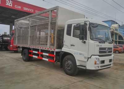 东风天锦6.3米CLW5160CCQD5型畜禽运输车-程力威牌CLW5160CCQD5型畜禽运输车-免征: 无|燃油: 无