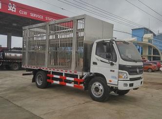 福田欧马可5米CLW5121CCQ5型畜禽运输车-程力威牌CLW5121CCQ5型畜禽运输车-免征: 无|燃油: 无