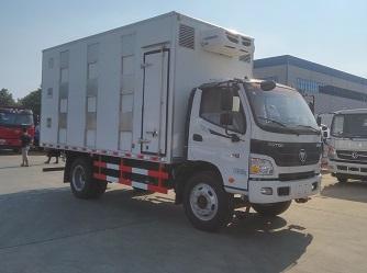 福田欧马可4米厢式CLW5120CCQB5型畜禽运输车-程力威牌CLW5120CCQB5型畜禽运输车-免征: 无|燃油: 无