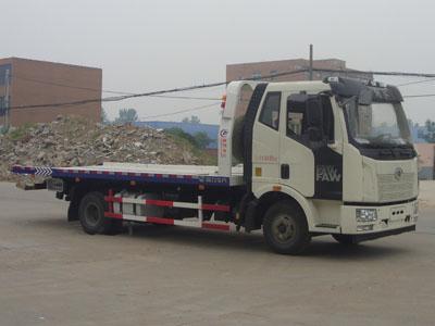 解放CLW5080TQZC5型超长平板一拖二清障车-程力威牌CLW5080TQZC5型清障车-免征: 无|燃油: 无