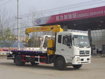 东风天锦CLW5122TQZD5型吊机一拖二清障车-程力威牌CLW5122TQZD5型清障车-免征: 无|燃油: 无