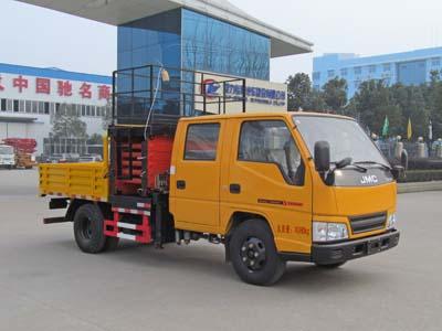 江铃顺达双排  蓝牌6-10米CLW5041JGKJ5型剪叉式升降平台车-程力威牌CLW5041JGKJ5型高空作业车-免征: 无|燃油: 有