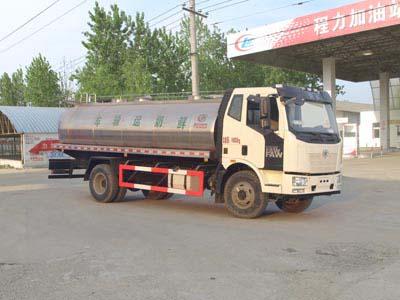 解放8方CLW5161GNYC5型鲜奶运输车-程力威牌CLW5161GNYC5型鲜奶运输车-免征: 无|燃油: 无