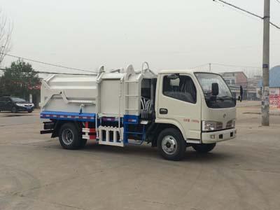 东风多利卡CLW5072ZDJT5型压缩式对接垃圾车-程力威牌CLW5072ZDJT5型压缩式对接垃圾车-免征: 无|燃油: 无