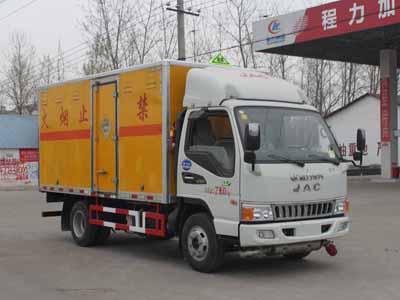 江淮骏铃CLW5070XQYH5型爆破器材运输车-程力威牌CLW5070XQYH5型爆破器材运输车-免征: 无|燃油: 无