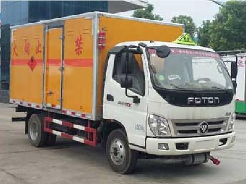 福田奥铃CLW5042XRQB5型易燃气体厢式运输车-程力威牌CLW5042XRQB5型易燃气体厢式运输车-免征: 无|燃油: 无