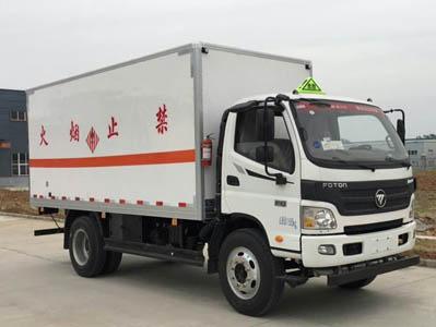 福田欧马可CLW5129XRGB5型易燃固体厢式运输车-程力威牌CLW5129XRGB5型易燃固体厢式运输车-免征: 无|燃油: 无