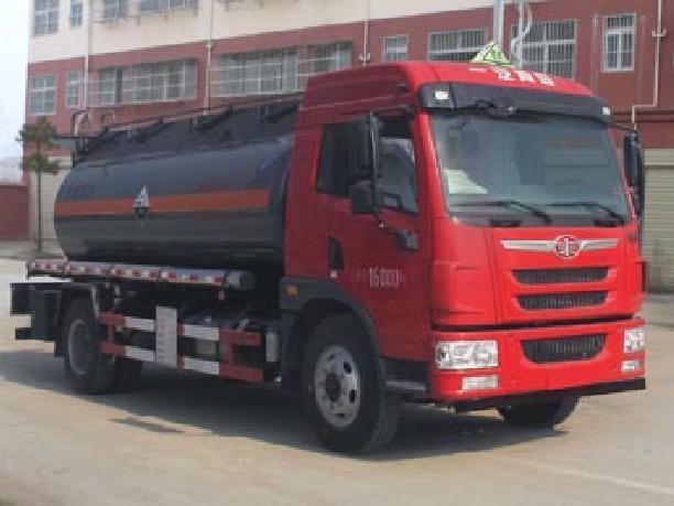 解放10方CLW5162GFWC5型腐蚀性物品罐式运输车-程力威牌CLW5162GFWC5型腐蚀性物品罐式运输车-免征: 无|燃油: 无