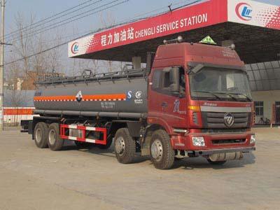 欧曼前四后八20方CLW5310GFWB5型腐蚀性物品罐式运输车-程力威牌CLW5310GFWB5型腐蚀性物品罐式运输车-免征: 无|燃油: 无