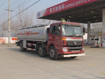 程力生产欧曼小三轴6×2油罐车产品优势